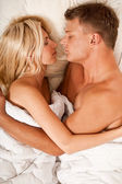 Intimate lovers embrace — Stock Photo