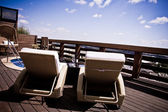 Balcony view from resort — Stock Photo