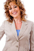 Cheerful business lady — Stock Photo