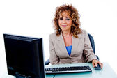 Senior woman at work — Stock Photo