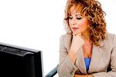 Pani pracy w jej biurze — Zdjęcie stockowe