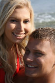 Caucasian couple smiling — Stock Photo