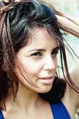 Close-up of gorgeous beautiful woman — Stock Photo