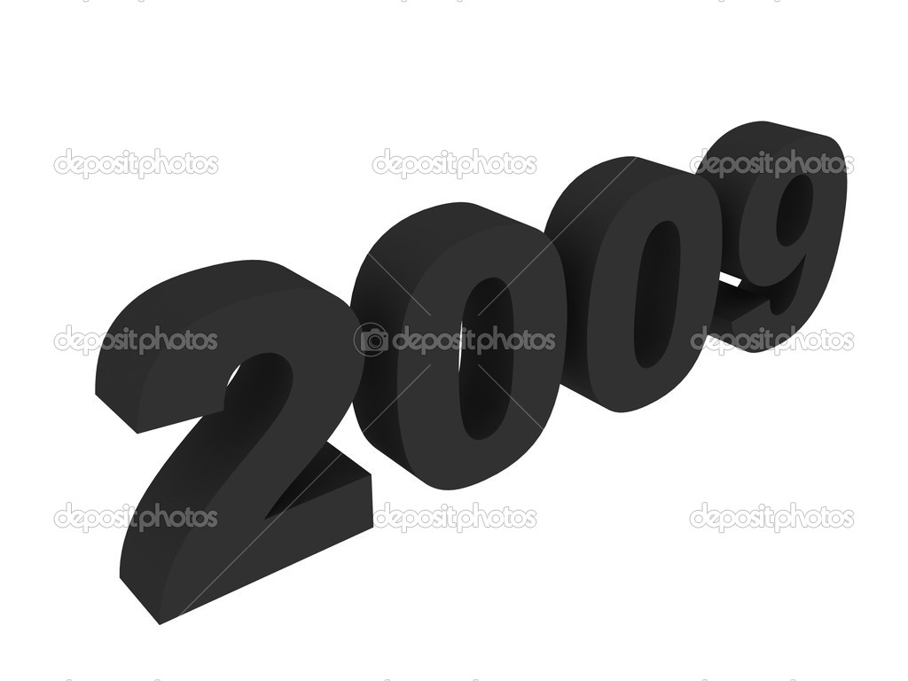 Three dimensional new year 2009 — Stock Photo #1360659