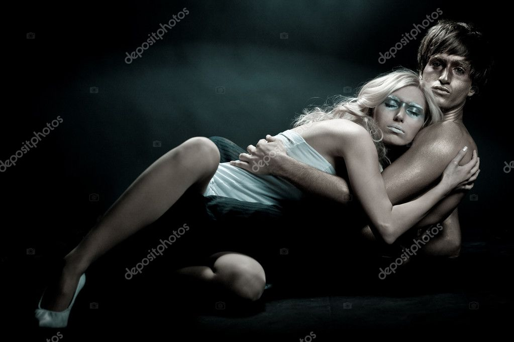 Woman taking peaceful sleep in arms of her boyfriend   #1367618