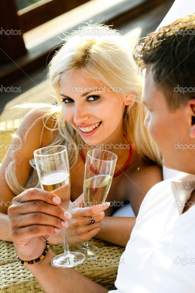 Young woman flirting with the guy  Stock Photo #1368423