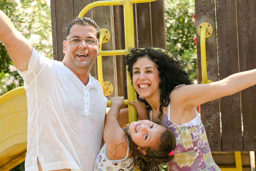 Family having fun, outdoors — Stock Photo #1369262