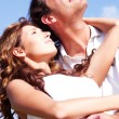 Couple facing sky together — Stock Photo