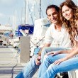 Cheerful young couple relaxing — Stock Photo