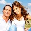 Young couple posing in front of camera — Foto Stock