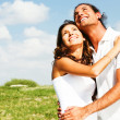 Classic love of young couple embracing - Stock Photo