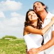 clásico amor de pareja joven abrazando — Foto de Stock