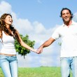 Couple holding hands — Stock Photo #1370312