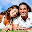 Young couple looking at camera — Stock Photo #1370387
