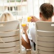 Man and woman relaxing — Stock Photo