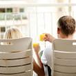 Rear view of couple relaxing — Stock Photo