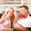 Young couple sharing coffee — Stock Photo #1371212