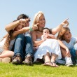 Portrait of happy family of five — Stock Photo #1371445