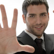 Young man with hand gesture — Stock Photo
