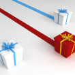 Gifts with ribbon — Stock Photo #1373005