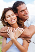 Romantic couple embracing — Stock Photo