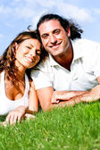 Affectionate couple relaxing — Stock Photo