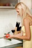 Bayan çamaşır sebze — Stok fotoğraf