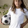 Young buy with soccer ball — Stock Photo #1649580