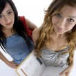 Young friends with books, ariel view — Stock Photo #1649760