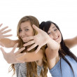 Young cheerful friends having fun — Stock Photo