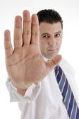 Mature businessman stopping you — Stock Photo