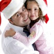 Father and daughter hugging each other — Stock Photo #1650011