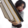 Gorgeous young student holding her books — Stock Photo #1651182