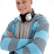 Portrait of young man with headphones — Stock Photo #1653706