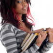 Stock Photo: Teenager student holding study material