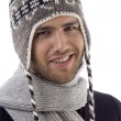 Cool handsome guy wearing woolen cap — Stock Photo #1656221