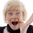 Portrait of old woman looking at camera — Stock Photo