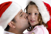 Father kissing his daughter — Stock Photo