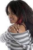 Zpět představují nádherné africké dívky — Stock fotografie