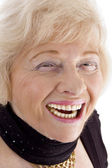 Close up of laughing old woman — Stock Photo