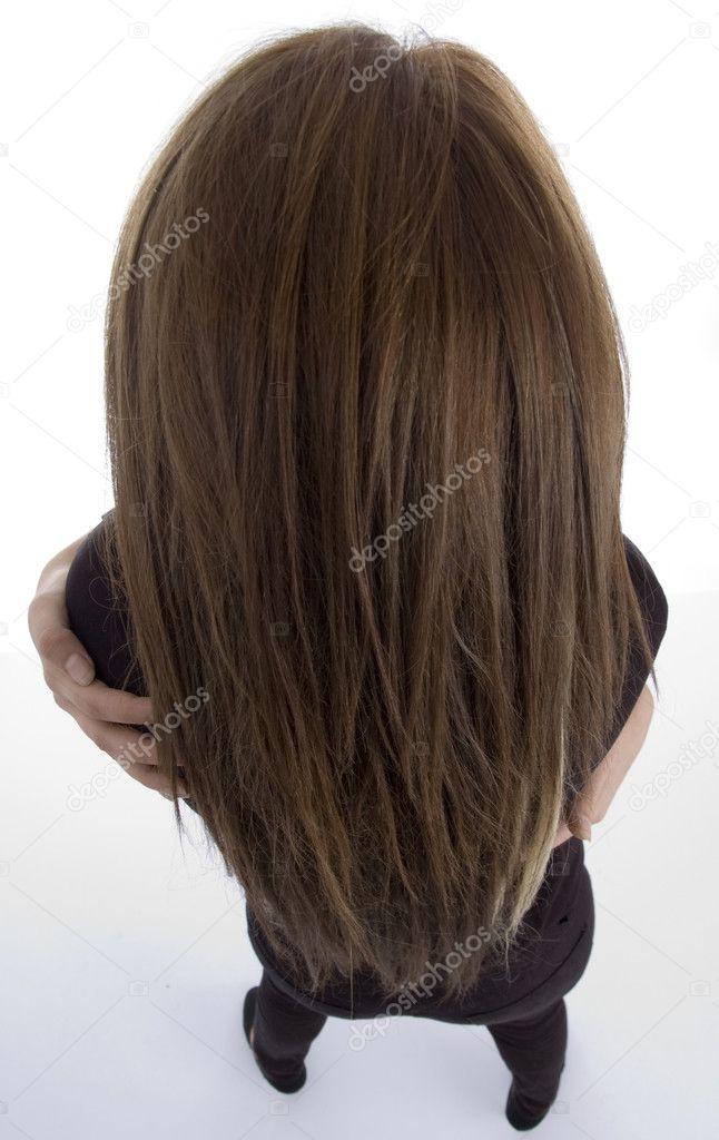 长头发的女性回构成