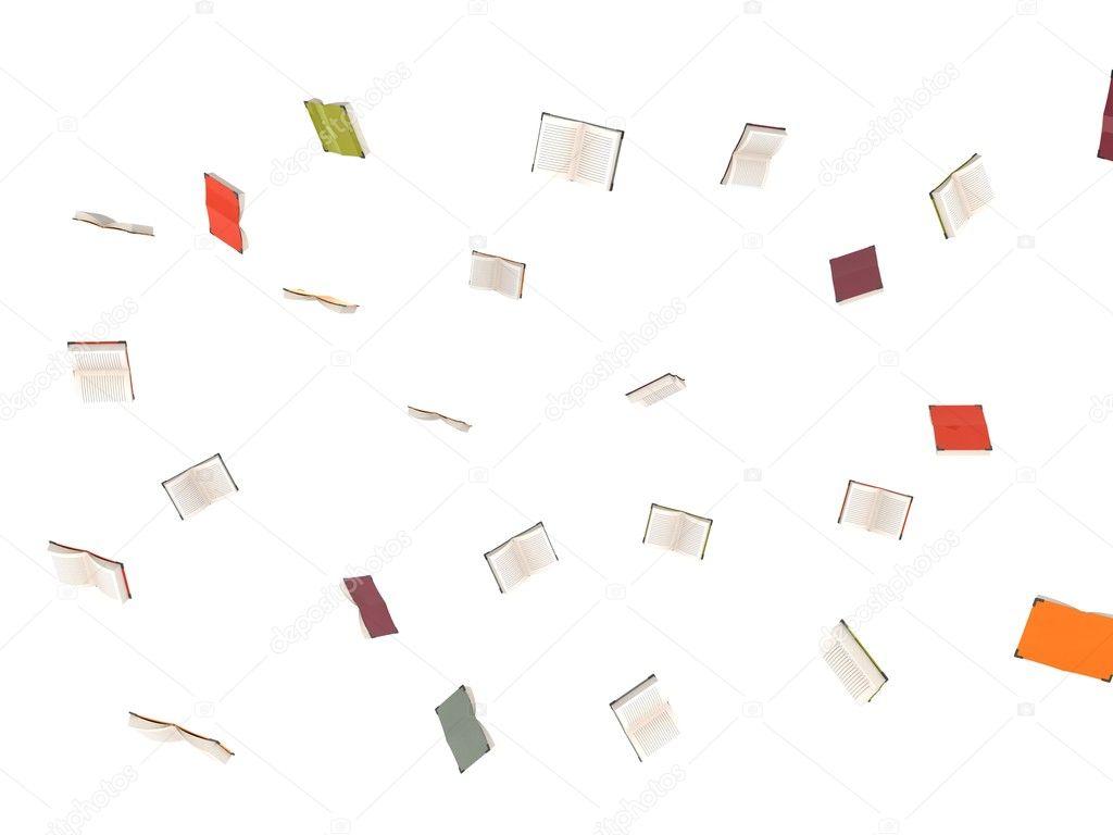 3d flying books — Stock Photo © imagerymajestic #1654735