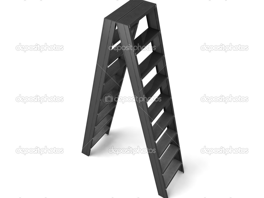 Rendered three dimensional ladder case isolated on white background — Stock Photo #1654788