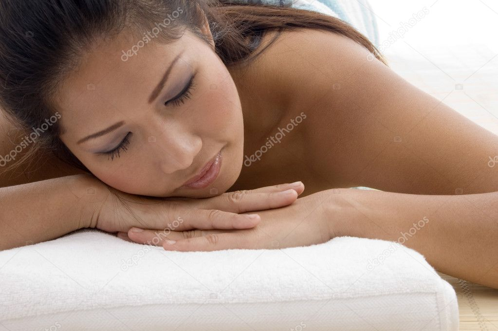 Close up of relaxing beautiful young woman  Stock Photo #1658194