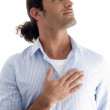 Stock Photo: Young male showing respect, saluting