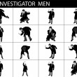 Illustration of investigating men — Stock Photo