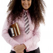 Pretty young female student with books — Stock Photo