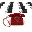 Royalty-Free Stock Photo: Rendered 3d telephones