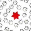 Royalty-Free Stock Photo: 3d rendered group of stars