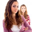 Gorgeous young beautiful teens posing — Stock Photo